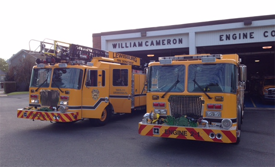 photo of WCEC fire engines