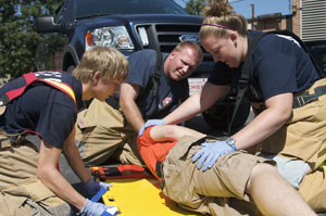photo of emts in action